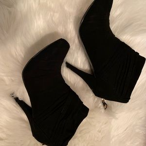 Guess Black fabric ankle boots